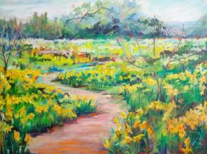 """Suenos De Primavera, 36"""" x 48"""", oil on canvas"""