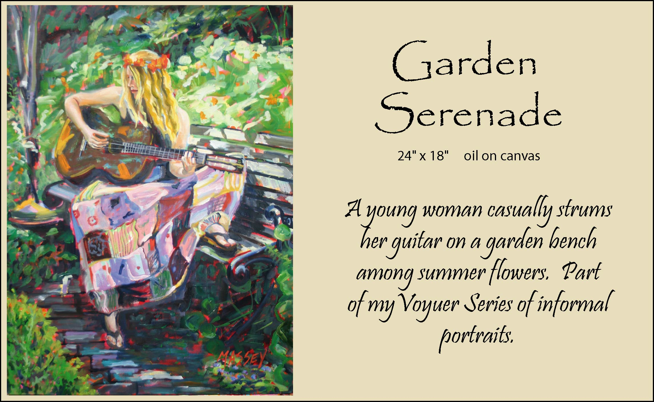 garden serenade framed