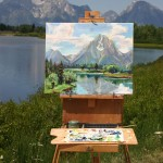 Plein Air Painting at Oxbow Bend
